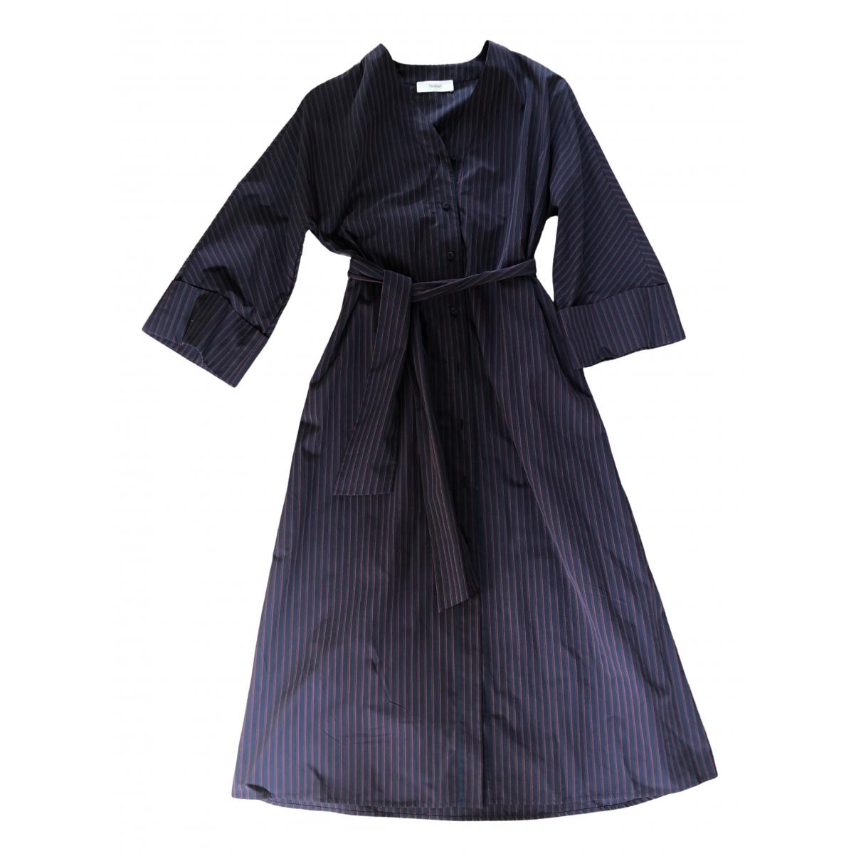 Pringle Of Scotland - Robe   pour femme en coton - bleu