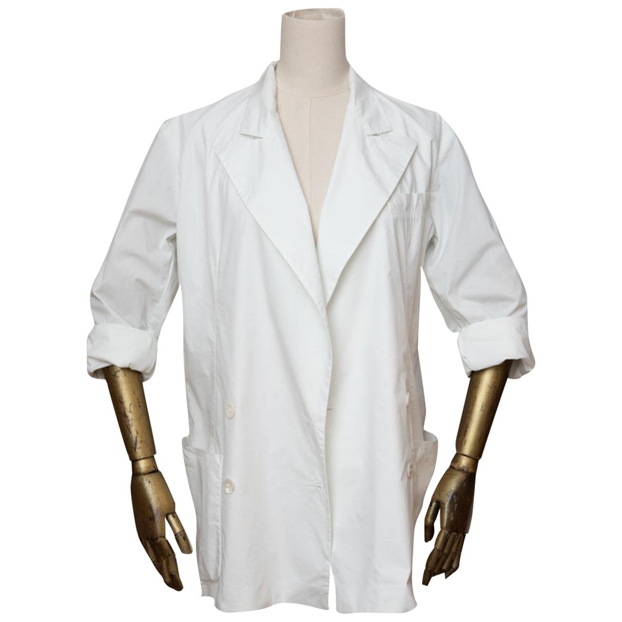 Miu Miu - Veste   pour femme en coton - blanc