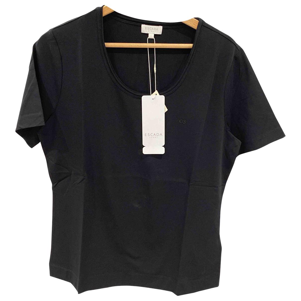 Escada - Top   pour femme en coton - noir