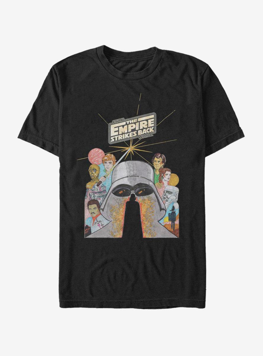 Star Wars Illustrated Strikes Back T-Shirt