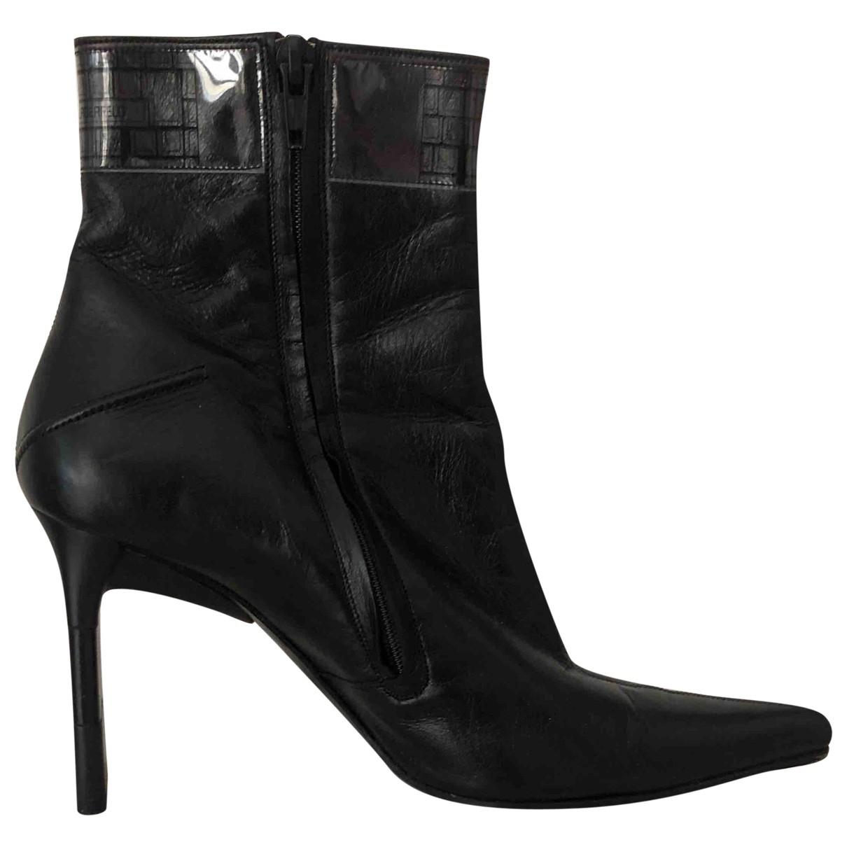 Karl Lagerfeld \N Stiefeletten in  Schwarz Leder