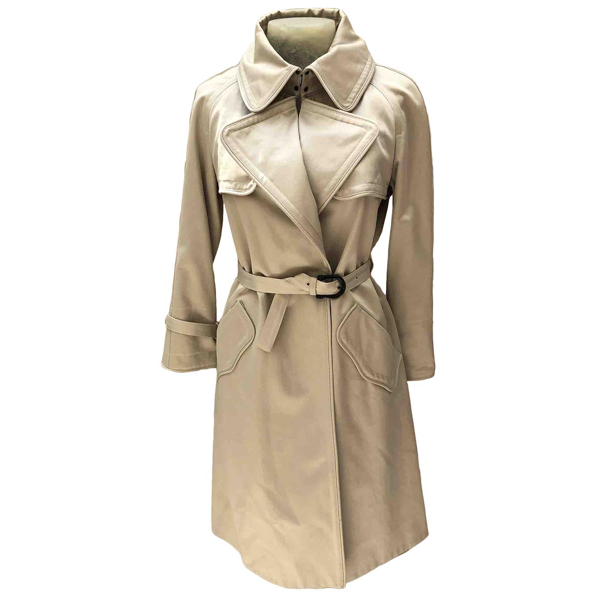 Burberry \N Beige Cotton Trench coat for Women 40 IT