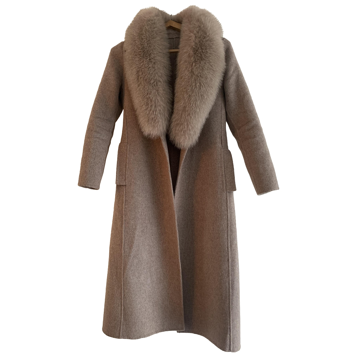 Non Signé / Unsigned \N Grey Wool coat for Women 36 FR
