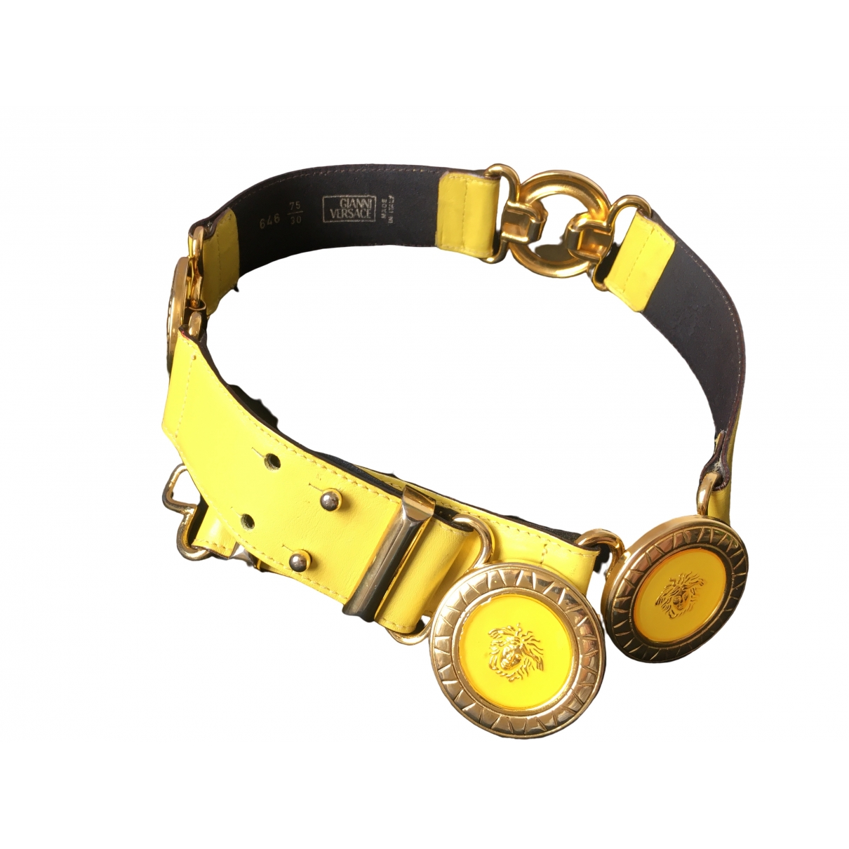 Gianni Versace \N Guertel in  Gelb Leder