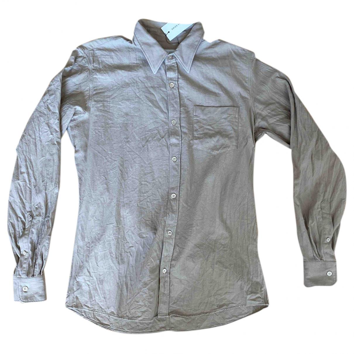 Dries Van Noten \N Hemden in  Beige Baumwolle