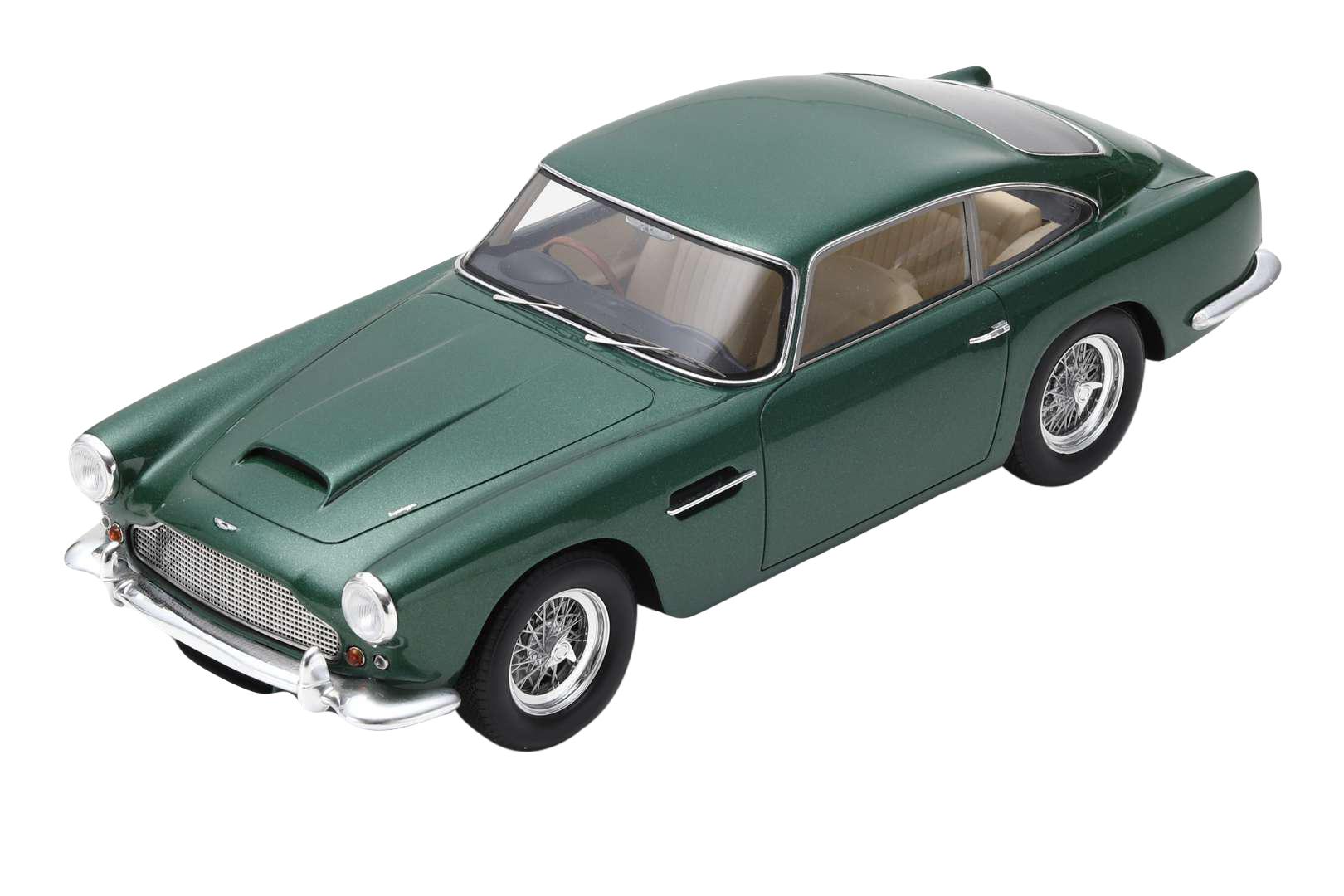 1960 Aston Martin DB4 Series II RHD (Right Hand Drive) Green 1/18 Model Car by Spark