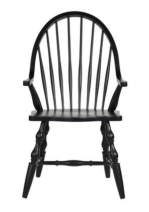 DLU-C30A-AB Black Cherry Selections Windsor Dining Chair with Arms  in Antique