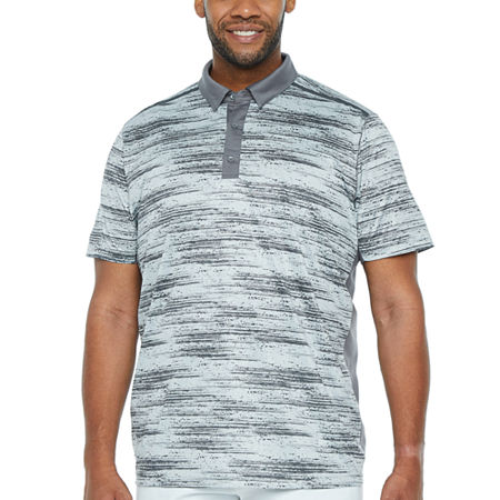 Msx By Michael Strahan Big and Tall Mens Short Sleeve Polo Shirt, 4x-large Tall , Gray