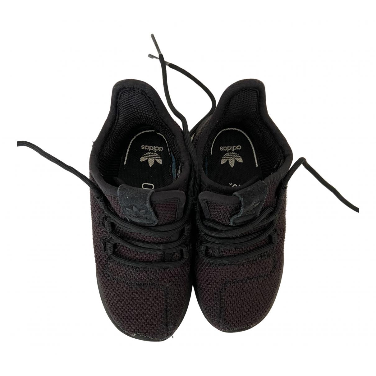 Adidas - Baskets Tubular pour enfant en toile - noir
