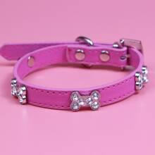 Collar de perro con diamante de imitacion