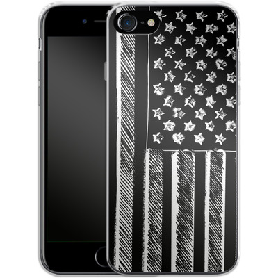 Apple iPhone 7 Silikon Handyhuelle - Black and White von caseable Designs