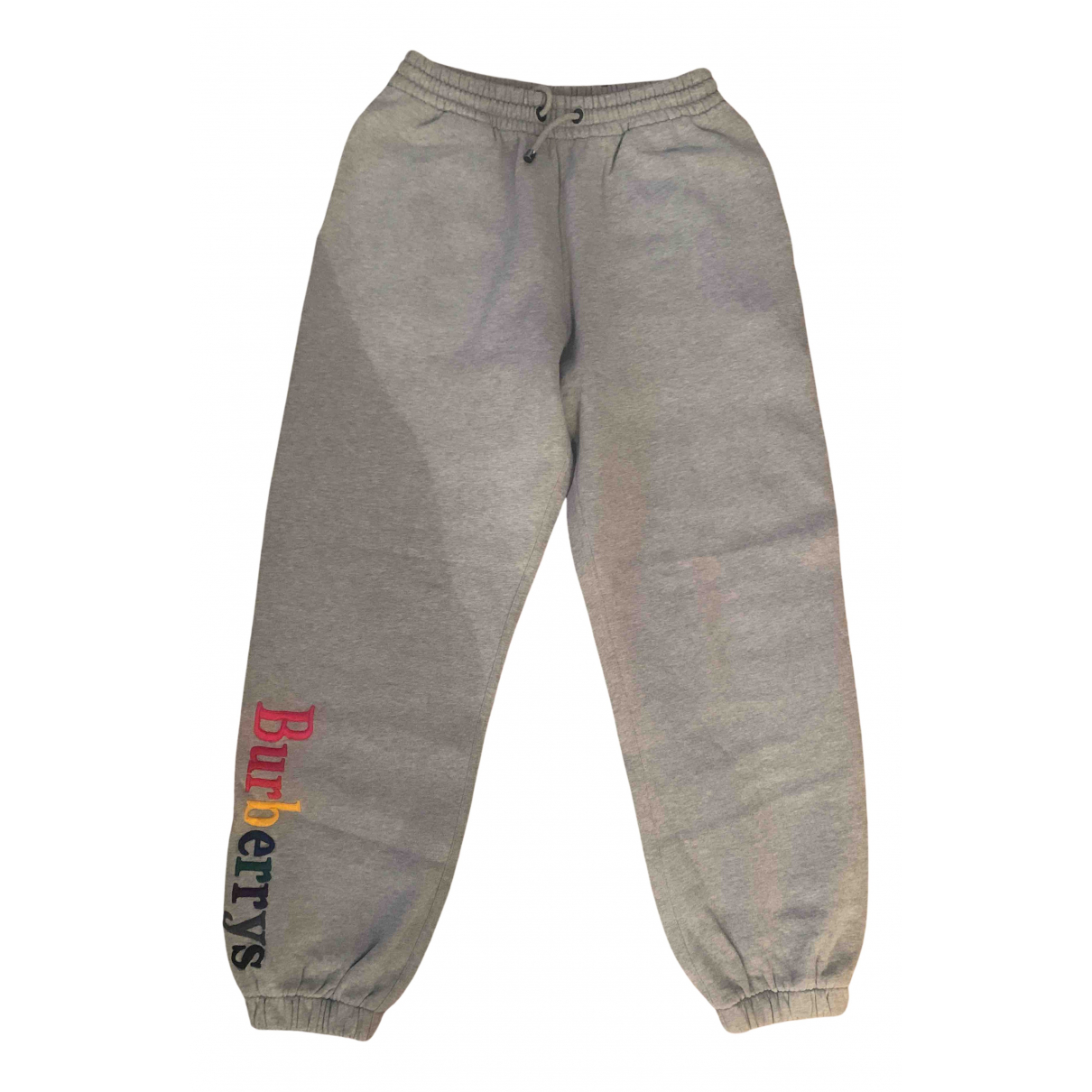 Burberry N Grey Cotton Trousers for Men XS International