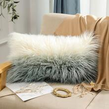 Two Tone Plush Cushion Cover Without Filler