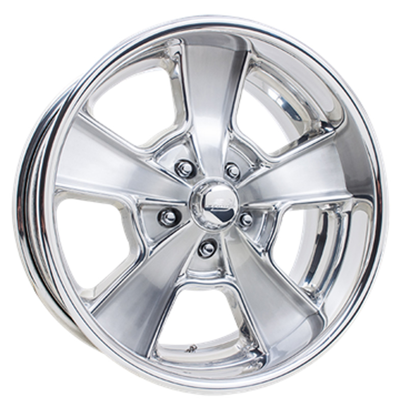 Billet Specialties VDS71C812Custom Knuckle Dish Brushed Clear Coat 18x12 Wheel