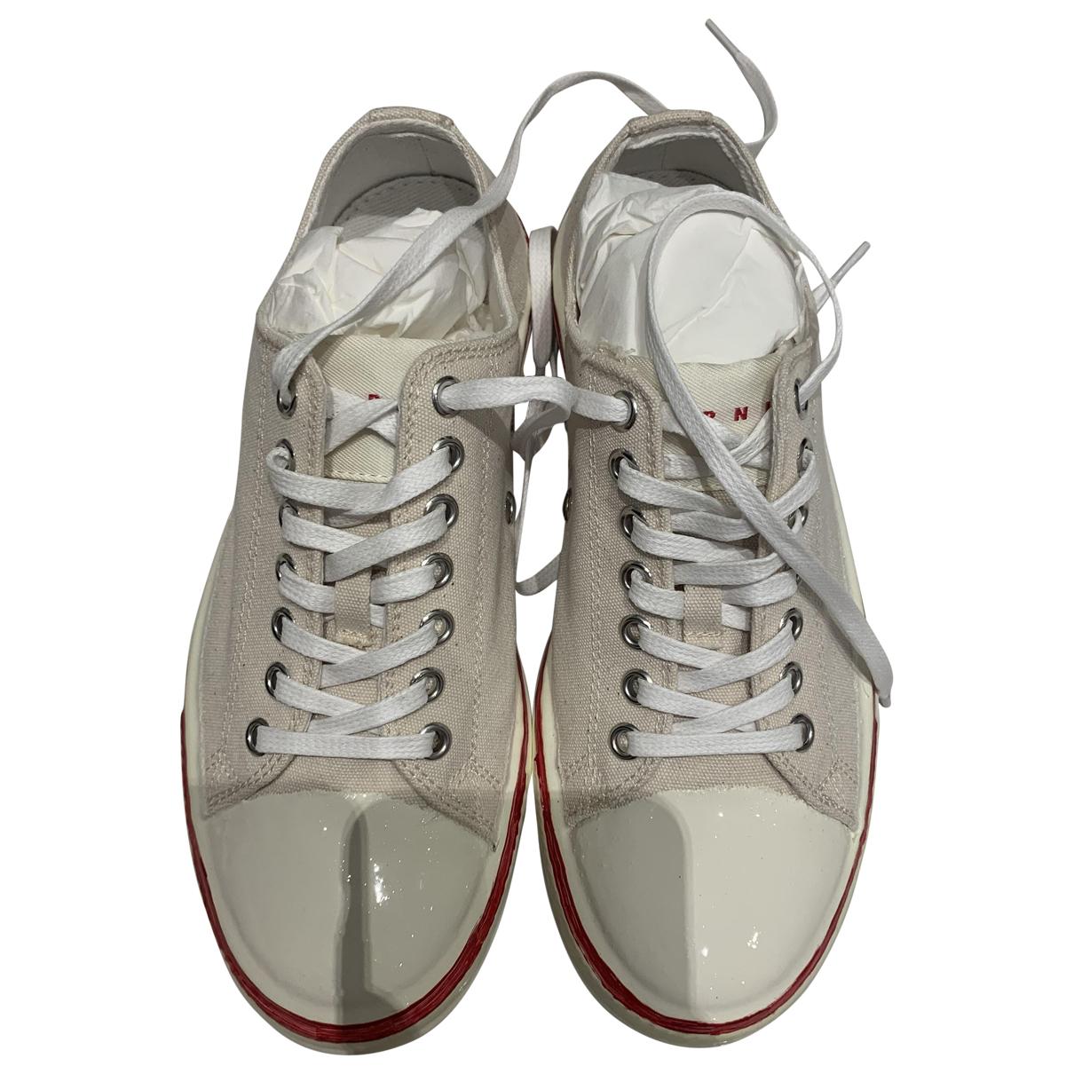 Marni \N Sneakers in  Weiss Leinen
