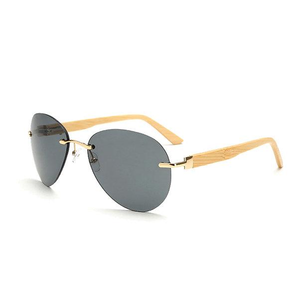 Men Women Bamboo Legs Retro Sunglasses Outdoor Spring Hinge Big Frame Goggle Eyeglasses