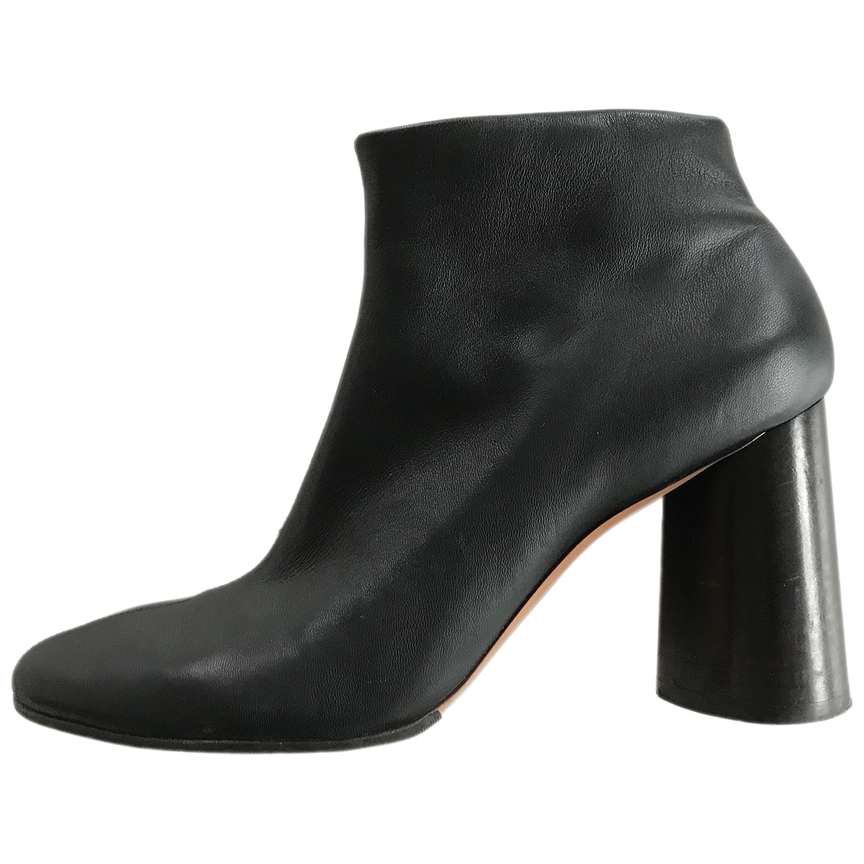 Celine \N Navy Leather Ankle boots for Women 38.5 EU