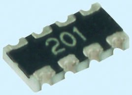 Yageo ARC Series 47Ω ±1% Isolated SMT Resistor Array, 4 Resistors 1206 (3216M) package Concave (50)