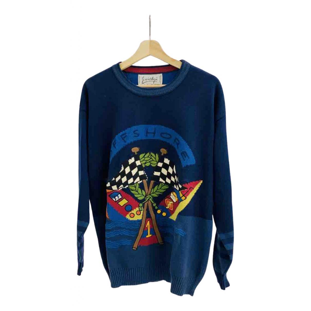 Jc De Castelbajac \N Pullover.Westen.Sweatshirts  in  Blau Baumwolle