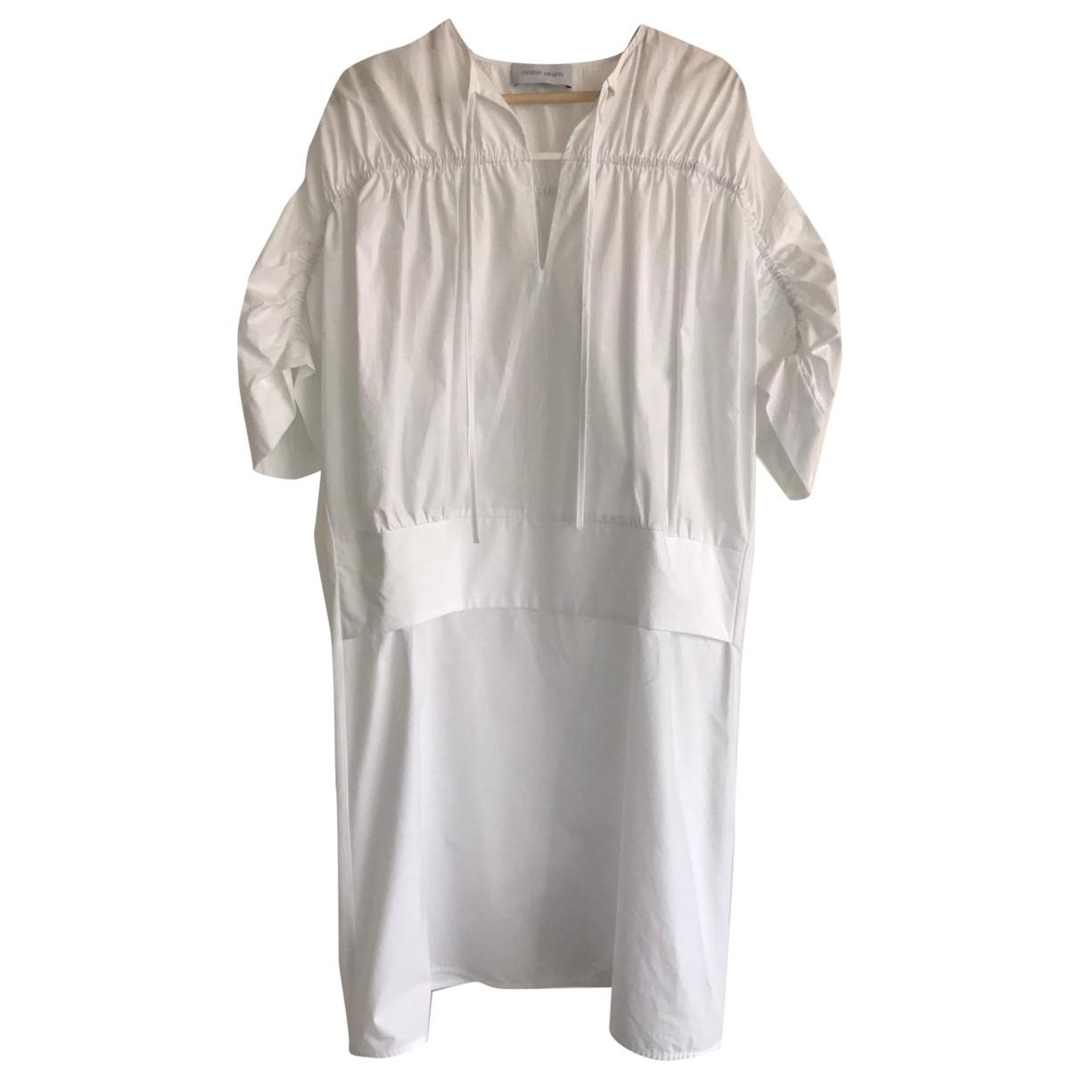 Christian Wijnants \N White Cotton dress for Women 38 FR