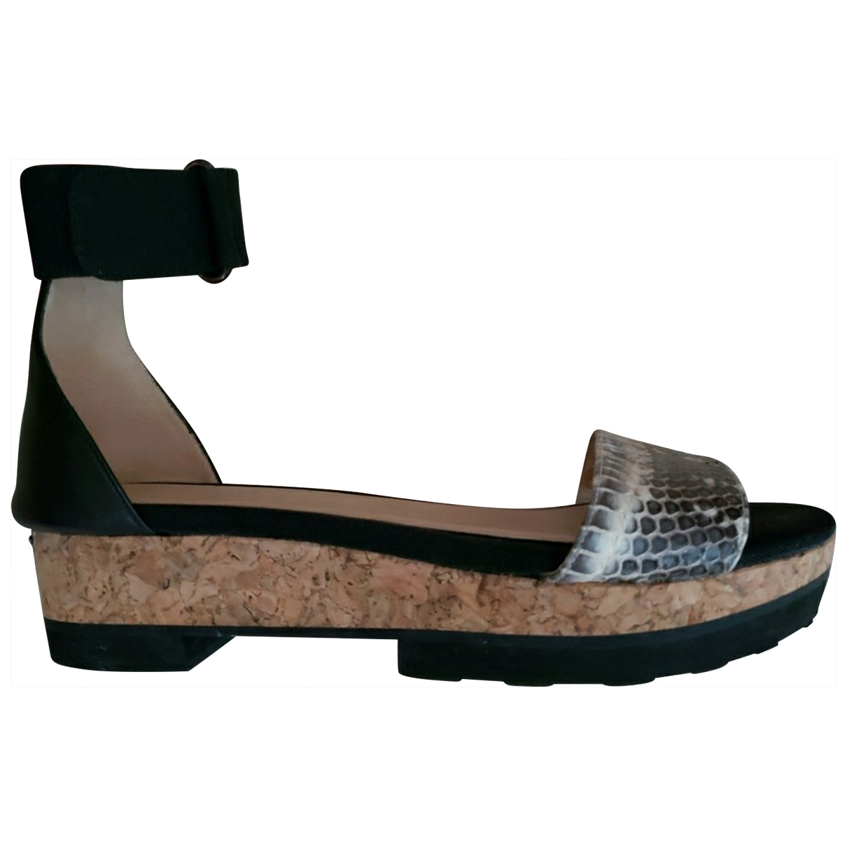 Jimmy Choo \N Black Leather Sandals for Women 38.5 IT