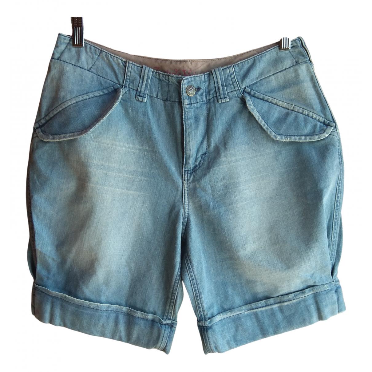 Zadig & Voltaire \N Blue Denim - Jeans Shorts for Women 38 FR