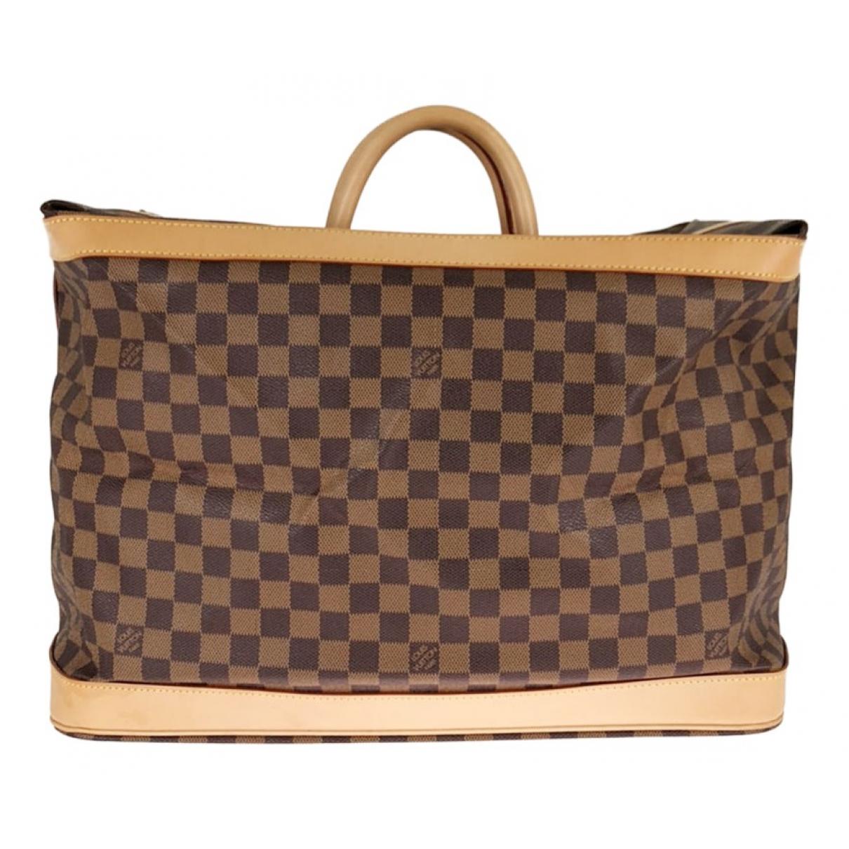 Louis Vuitton Cruiser Reisetasche in  Braun Leinen