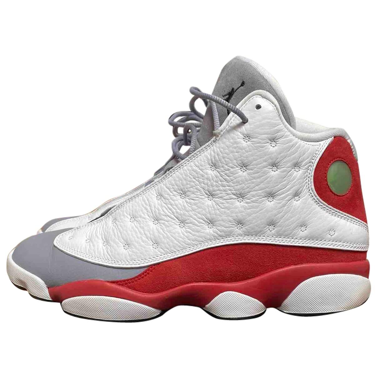 Jordan Air Jordan 13 Sneakers in  Weiss Leder