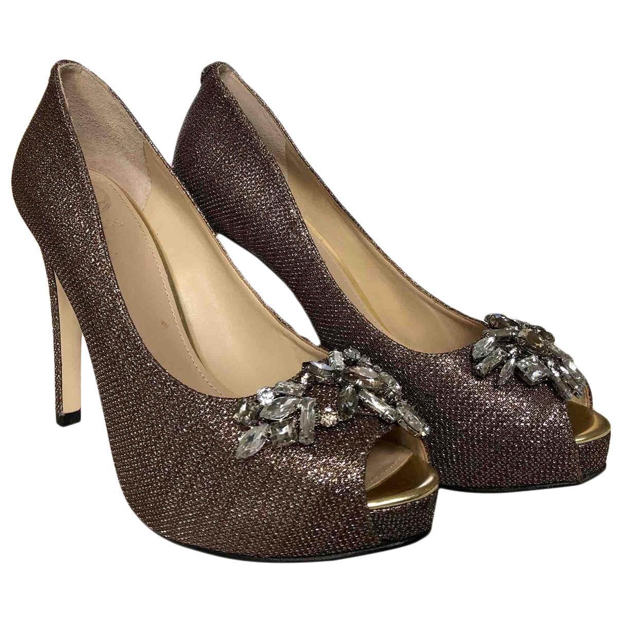 Guess \N Gold Cloth Heels for Women 39 EU