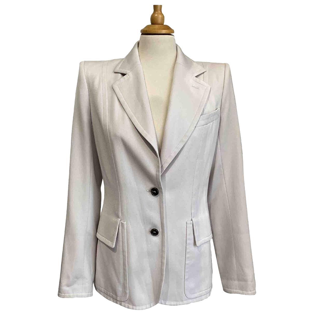 Yves Saint Laurent - Veste   pour femme en laine - blanc