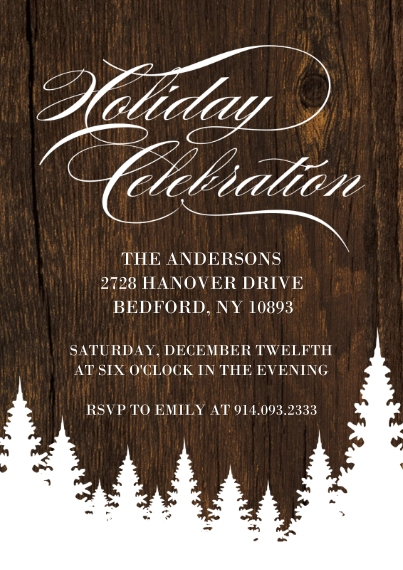 Christmas & Holiday Party Invitations 5x7 Cards, Premium Cardstock 120lb with Elegant Corners, Card & Stationery -Holiday Invite Celebration