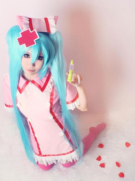 Milanoo Halloween Vocaloid Miku Hatsune Cosplay traje enfermera version