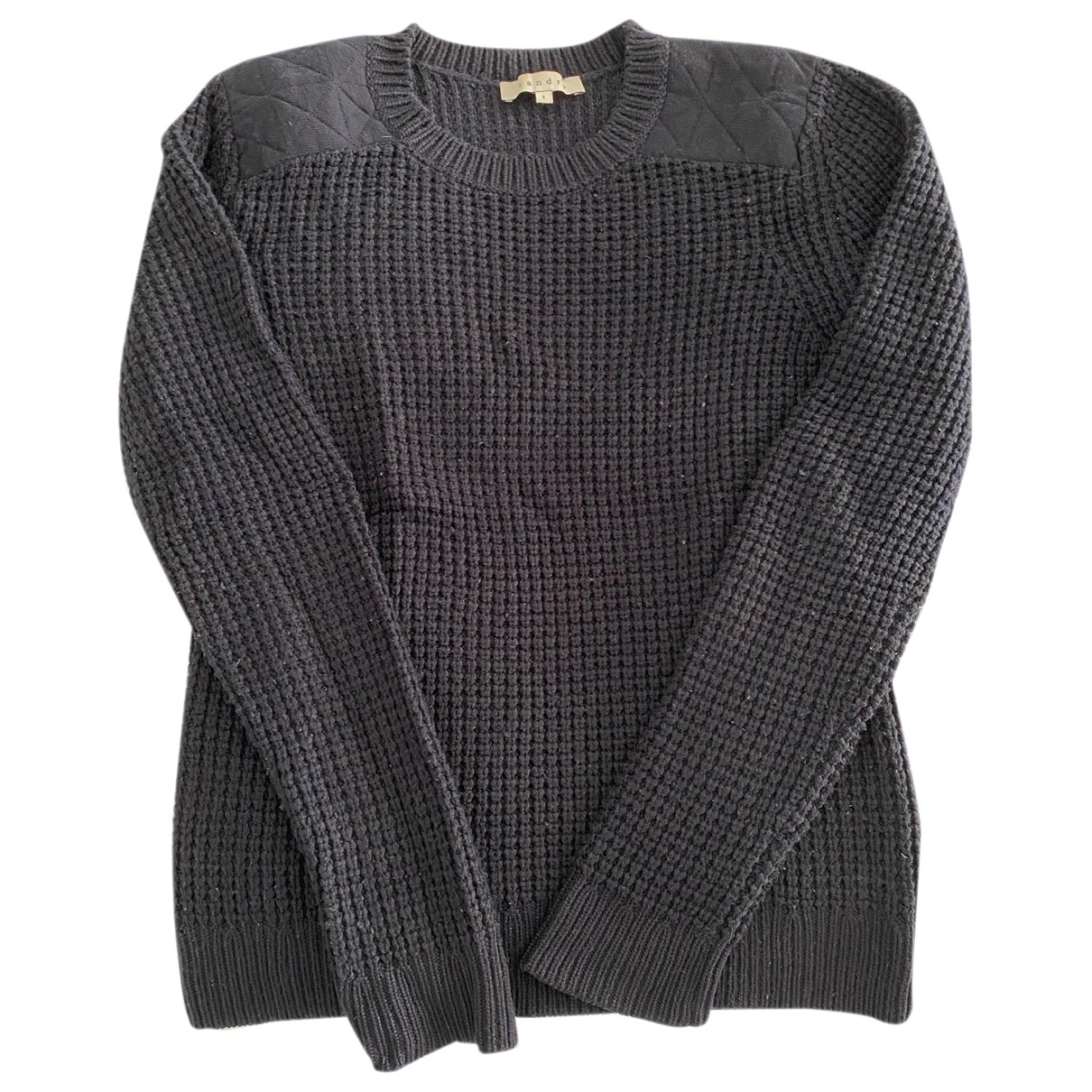 Sandro \N Pullover in  Marine Wolle