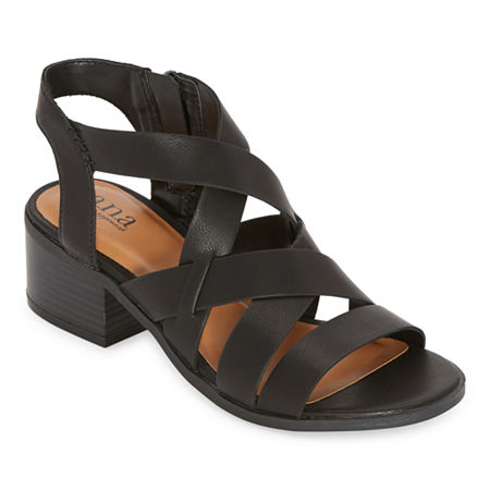 a.n.a Womens Saffron Heeled Sandals, 11 Medium, Black