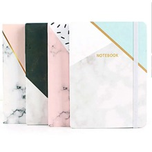 1pc Marble Print Cover Notebook