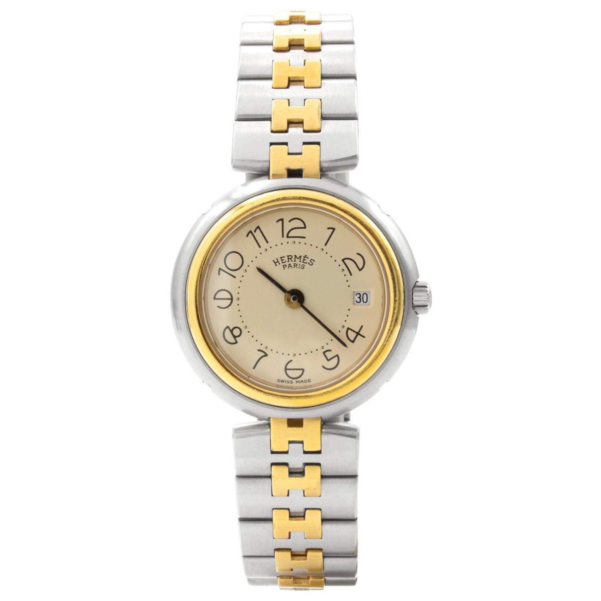 Hermes \N Uhr in  Silber Vergoldet