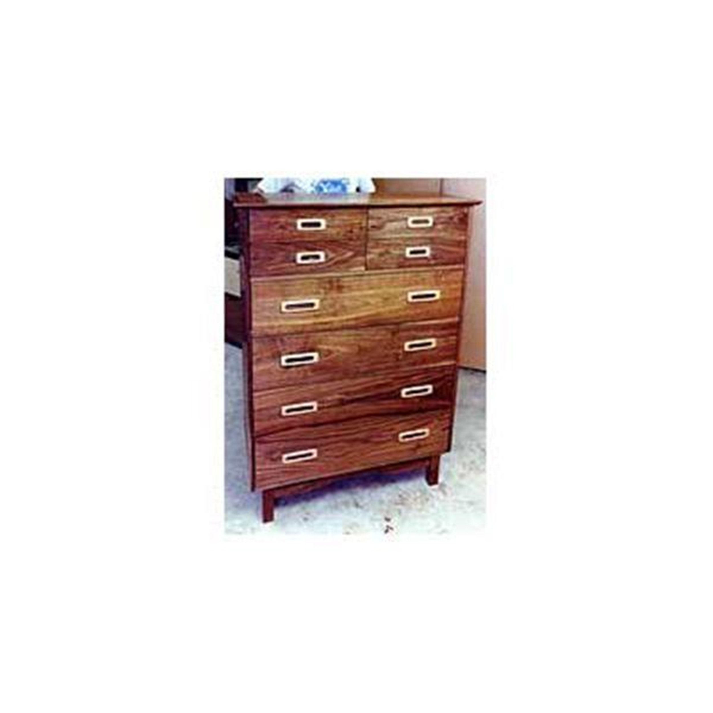 Woodworking Project Paper Plan to Build Retro Chest of Drawers