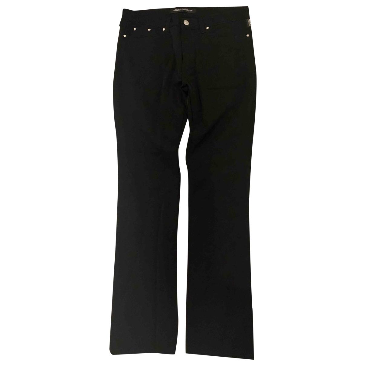 Versace Jeans \N Black Cotton - elasthane Jeans for Women 32 FR