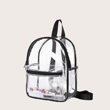 Transparenter Rucksack mit Taschen vorn