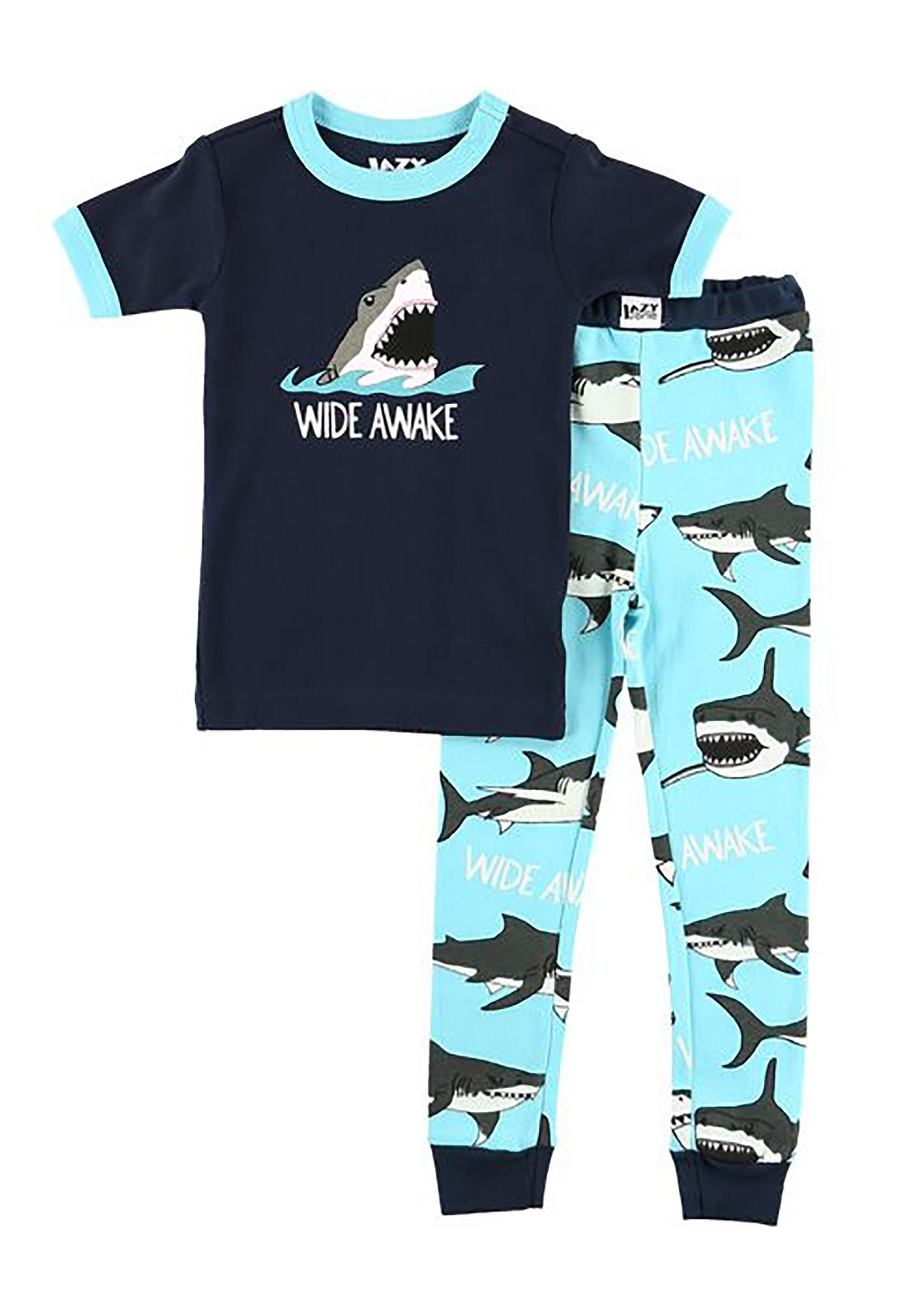 Kid's Wide Awake Shark Short Sleeve Pajama Set