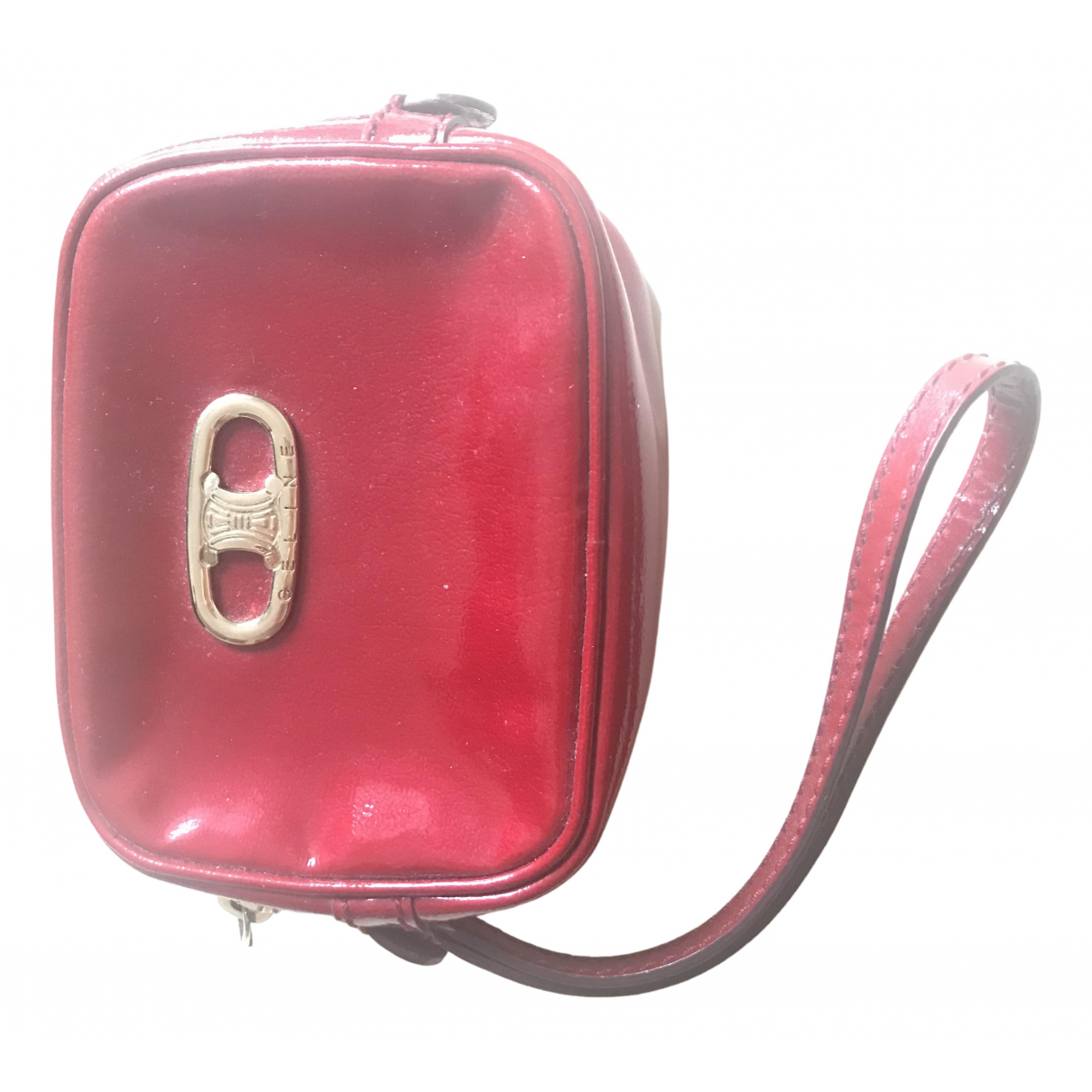 Celine \N Clutch in  Rot Leder