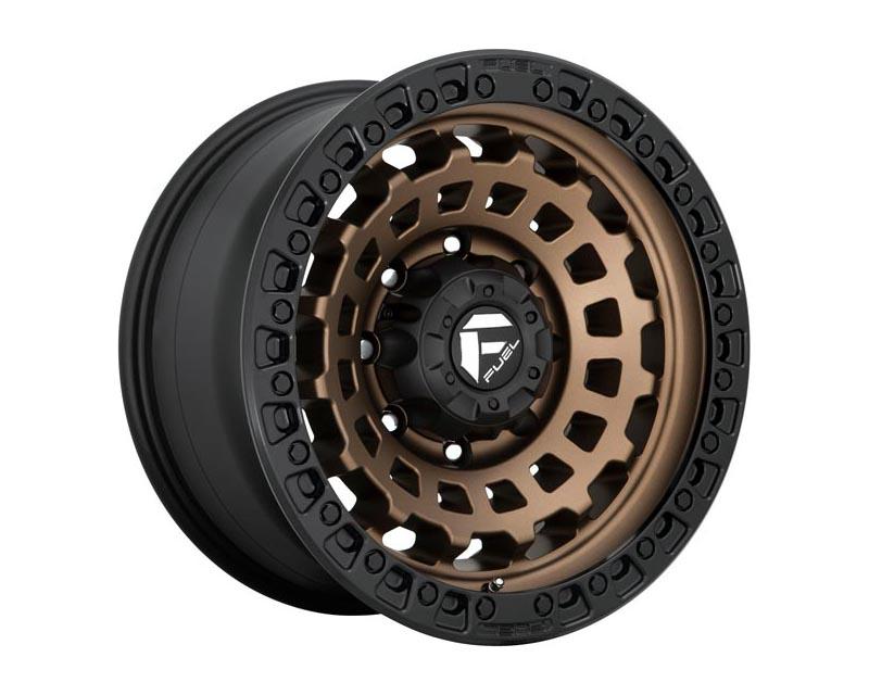 Fuel D634 Zephyr Wheel 17x9 8X6.5 1mm Matte Bronze Black Bead Ring