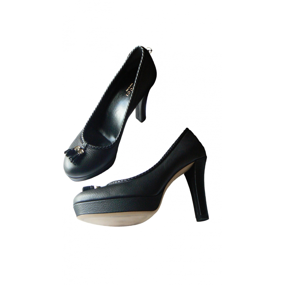 Gucci \N Black Leather Heels for Women 38 EU