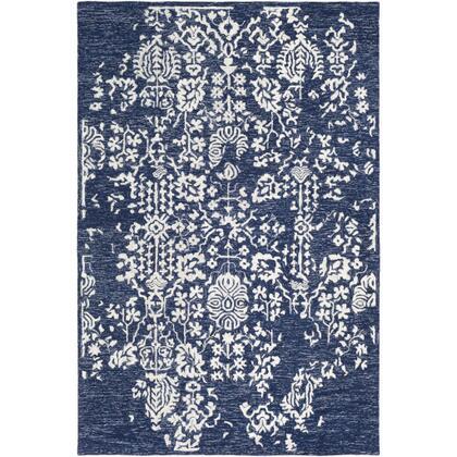 Granada GND-2311 8' x 10' Rectangle Traditional Rug in Dark Blue  Denim