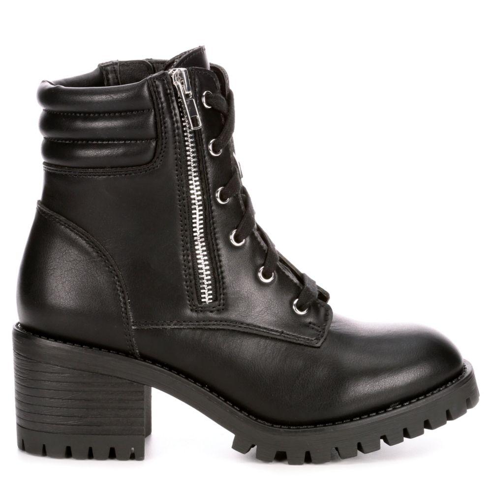 Madden Girl Womens Hushh Combat Boot