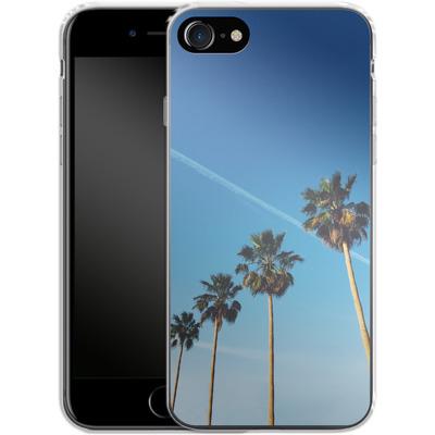 Apple iPhone 8 Silikon Handyhuelle - Palm Tree Paradise von Omid Scheybani