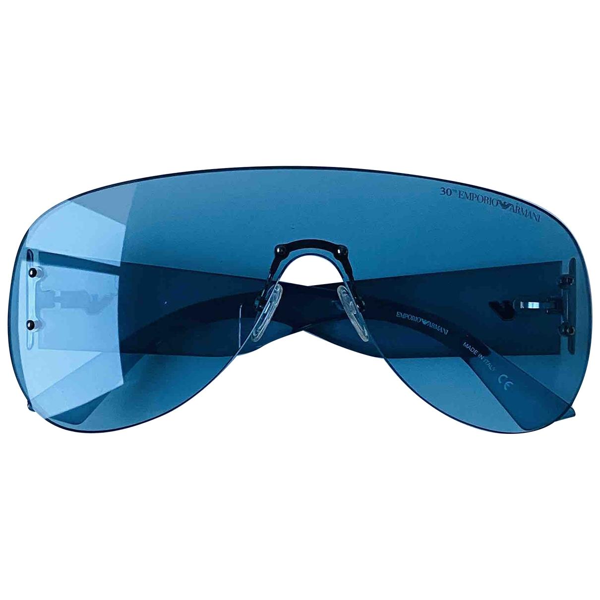 Armani Jeans \N Sonnenbrillen in  Blau Kunststoff