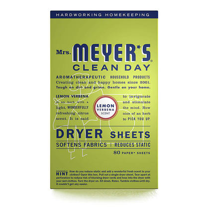 Mrs. Meyers Clean Day Dryer Sheets 80/Pack
