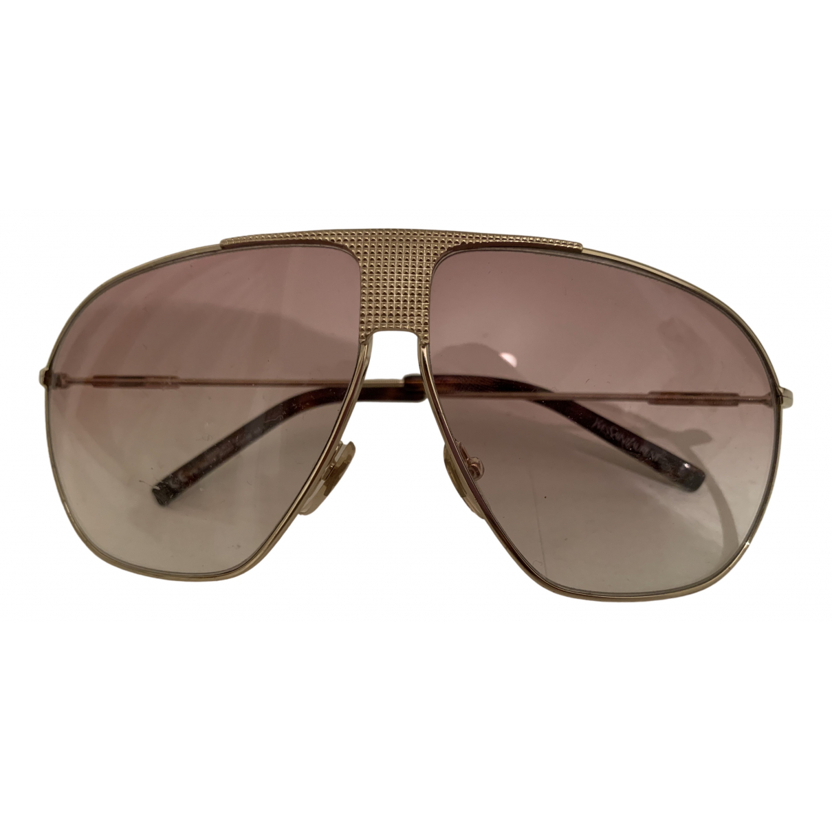 Yves Saint Laurent N Gold Metal Sunglasses for Men N
