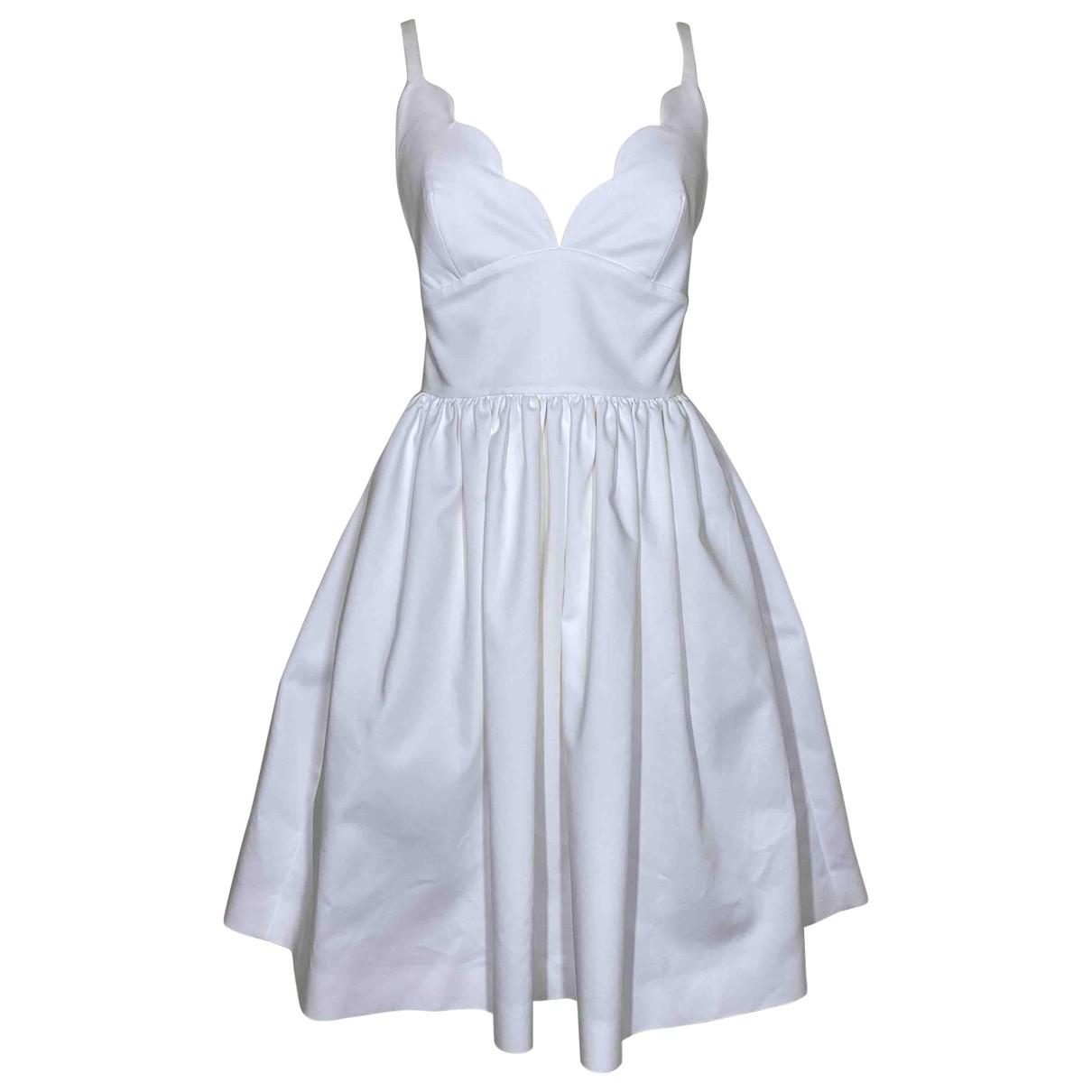 Miu Miu \N Kleid in  Weiss Baumwolle - Elasthan